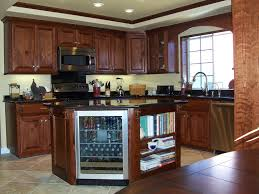 country kitchen design long blue island color ideas dark cabinets