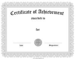 certificate templates without borders blank certificates