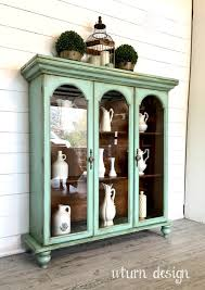 curio cabinet chalk painted curiot start at home decor diyts