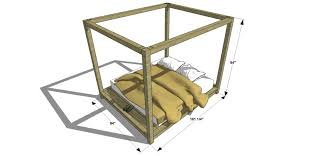 free diy furniture plans how to build a king sized canopy bed