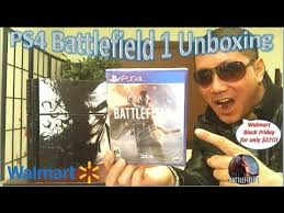 ps4 black friday walmart ps4 battlefield 1 unboxing walmart black friday for 27 youtube