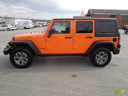 orange jeep wrangler crush orange 2013 jeep wrangler unlimited rubicon 4x4 exterior