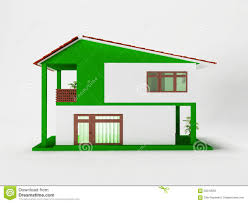 a simple two story house stock illustration image 59310650