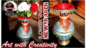 Best Flower Food How To Make Newspaper Flower Vase Best Out Of Waste Diy Art