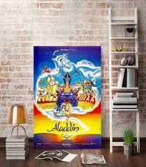 hd canvas print cartoon movie posters magic lamp jasmine a989