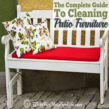 How To Clean Patio Chairs How To Clean Patio Furniture A Mess Free