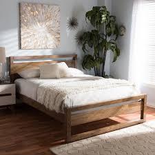 Torino Bedroom Furniture Baxton Studio Torino Mid Century Modern Solid Walnut Wood Open