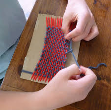 at the butterfly ball simple weaving with kids tutorial