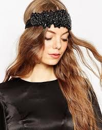 lace headband asos asos premium embellished black lace headband