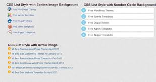 tutorial css design 5 useful css list style tutorial and exle freshdesignweb