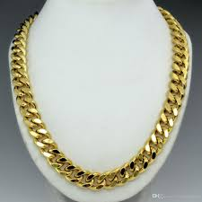 chain ring necklace images 18k gold filled mens solid heavy chain long necklace curb ring jpg