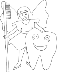 tooth fairy coloring printable