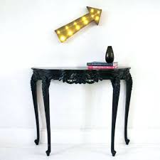 Black Console Table With Drawers Black Console Table Suzannawinter Com