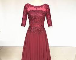 long chiffon dress etsy