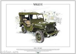 jeep us willys mb jeep print a3 size wwii us