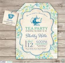 bridal tea party invitation 26 blue bridal tea party bridal shower invitations 26 book inserts