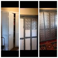 Folding Closet Door by Glued And Nailed Base Trim Mdf And Perforated Metal To My Ugly