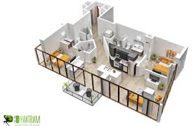 beautiful 3d floor plan residential service yantram