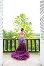 purple wedding a purple ombre and floral wedding dress 2171758