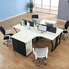 T Shape Desk Office Desk Modular Office Desks Simple Furniture Melamine T
