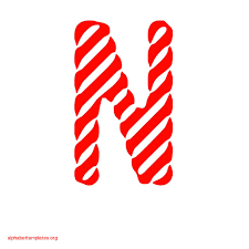candy stripe alphabet banner letters apple red alphabet