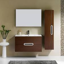 adornus yakira 39 inch walnut wall mounted bathroom vanity