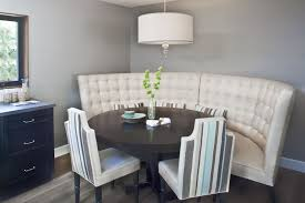 banquette with round table excellent white tufted banquette seating for dining set with black