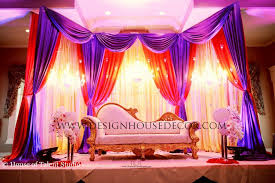 indian wedding decorators in ny reception stage decor show decorator purple stage design