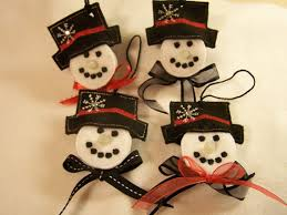adorable set of 4 tealight snowmen ornaments by tamistreats