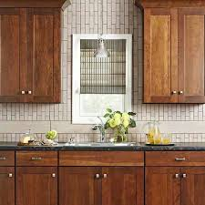 backsplashes kitchen backsplash ideas brown cabinets white corner