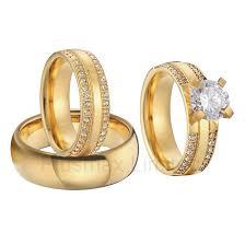 gold wedding rings sets aliexpress buy china wholesaler beautiful custom gold color