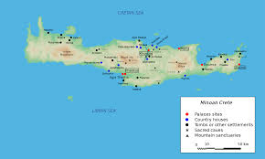 Agrarian Skies Map The Ancient Minoans Of Crete