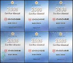 1999 dodge ram service manual 2008 dodge ram truck repair shop manual original 6 volume set