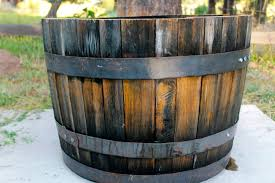 Half Barrel Planter by Garden Design Garden Design With Southwest Whiskey Barrel