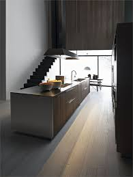 fitted kitchen with island kalea by cesar arredamenti design