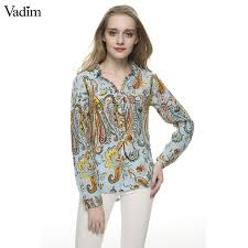 paisley blouse paisley print blouses vintage turn collar sleeve
