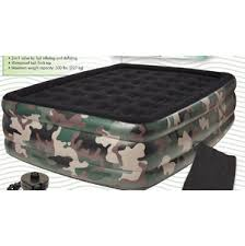 comfort 8508cdb camouflage queen raised air bed