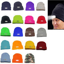 beanie with led lights 5 led lights beanies hat winter hands warm angling hunting cing