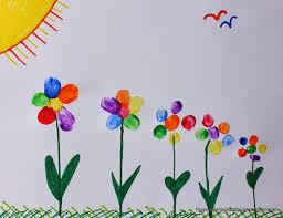 rainbow fingerprint flower family art fspdt