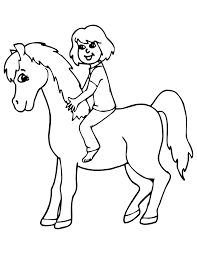 horse rider coloring pages coloring