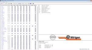 wirtgen widos tecnical documentation 2013 spare parts catalog