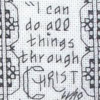 free cross stitch patterns philippians 4 v 13 bookmark