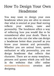design your own headstone calaméo how to design your own headstone