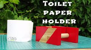 how to create a simple toilet paper holder diy youtube