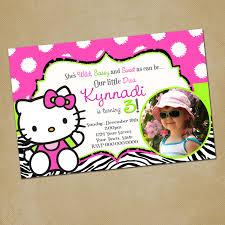 design free hello kitty birthday invitation card template free