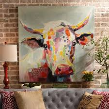 betsy cow canvas art print 50x50 cow canvases and printing