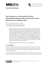 how to write an ethnographic research paper the prototype as a cosmopolitical place drs2016 the prototype as a cosmopolitical place ethnographic design practice and research at the national zoo in santiago chile paper title
