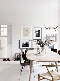 scandinavian apartment black and white home eames mid century