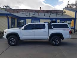 white toyota truck tacoma suburban toppers