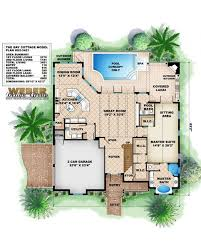 Covered Lanai by Amazingplans Com House Plan G2 3451 Bay Cottage Beach Pilings